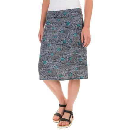Royal Robbins Essential Printed Skirt - UPF 50+, TENCEL® (For Women) in Navy - Closeouts