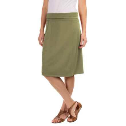 Royal Robbins Essential Rollover Skirt - Stretch Cotton (For Women) in Eucalyptus - Closeouts