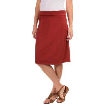 Royal Robbins Essential Rollover Skirt - Stretch Cotton (For Women) in Pimento - Closeouts