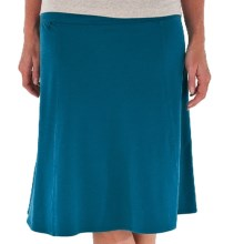 Royal Robbins Essential Rollover Skirt - Stretch Cotton Jersey (For Women) in Deep Sea - Closeouts