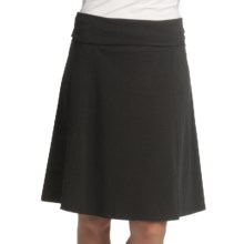 Royal Robbins Essential Rollover Skirt - Stretch Cotton Jersey (For Women) in Jet Black - Closeouts