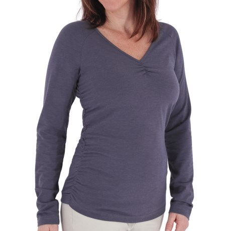 Royal Robbins Essential Ruched Shirt - UPF 50+, Long Sleeve (For Women) in Blueprint