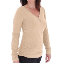 Royal Robbins Essential Ruched Shirt - UPF 50+, Long Sleeve (For Women) in Oatmeal - Closeouts