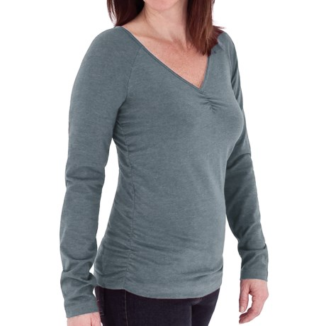 Royal Robbins Essential Ruched Shirt - UPF 50+, Long Sleeve (For Women) in Planetarium