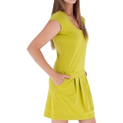 Royal Robbins Essential Stretch Jersey Pocket Dress - Short Sleeve (For Women) in Lime