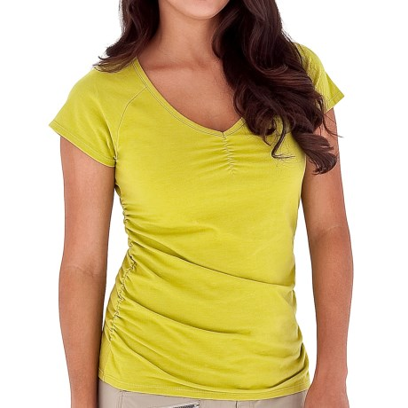 Royal Robbins Essential Stretch Jersey Shirt - UPF 50+, Lightweight, Short Sleeve (For Women) in Lime