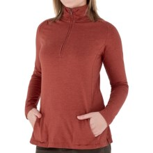 Royal Robbins Essential Stretch Jersey Shirt - UPF 50+, Zip Neck, Long Sleeve (For Women) in Ember - Closeouts