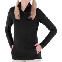Royal Robbins Essential Stretch Jersey Shirt - UPF 50+, Zip Neck, Long Sleeve (For Women) in Jet Black - Closeouts