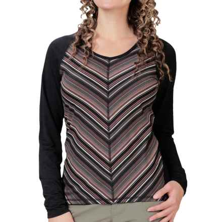 Royal Robbins Essential Stripe Shirt - UPF 50+, TENCEL®, Long Sleeve (For Women) in Charcoal - Closeouts