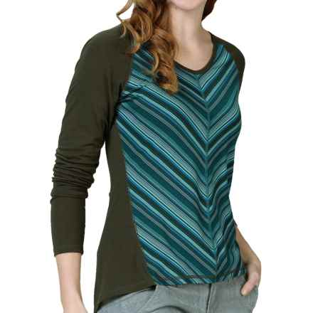 Royal Robbins Essential Stripe Shirt - UPF 50+, TENCEL®, Long Sleeve (For Women) in Dark Blizzard - Closeouts