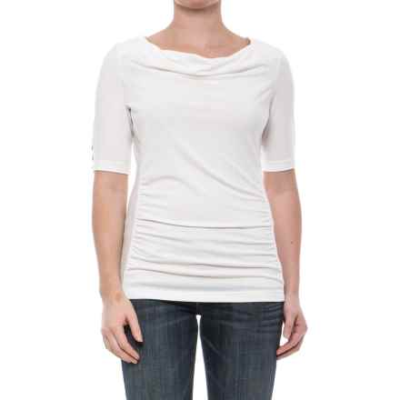 Royal Robbins Essential TENCEL® Shirt - UPF 50+, Elbow Sleeve (For Women) in Creme - Closeouts