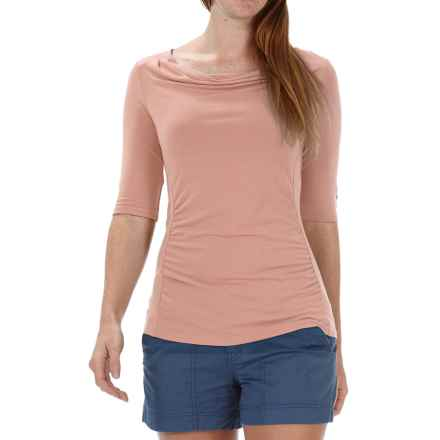 Royal Robbins Essential TENCEL® Shirt - UPF 50+, Elbow Sleeve (For Women) in Light Cantaloup - Closeouts