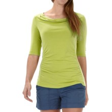 Royal Robbins Essential TENCEL® Shirt - UPF 50+, Elbow Sleeve (For Women) in Lime Zest - Closeouts
