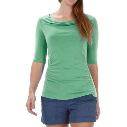 Royal Robbins Essential TENCEL® Shirt - UPF 50+, Elbow Sleeve (For Women) in Spearmint - Closeouts
