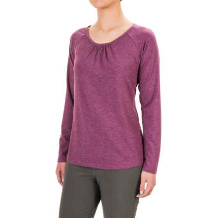 Royal Robbins Essential TENCEL® Shirt - UPF 50+, Scoop Neck, Long Sleeve (For Women) in Fuchsia - Closeouts