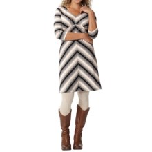 Royal Robbins Essential TENCEL® Stripe Dress - Long Sleeve (For Women) in Pewter - Closeouts