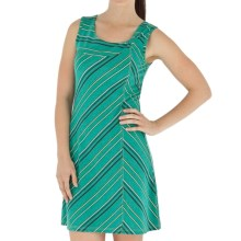 Royal Robbins Essential TENCEL® Stripe Dress - UPF 50, Sleeveless (For Women) in Emerald - Closeouts