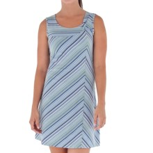 Royal Robbins Essential TENCEL® Stripe Dress - UPF 50, Sleeveless (For Women) in Pool - Closeouts