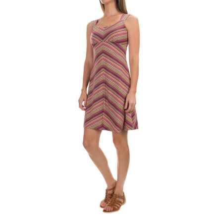 Royal Robbins Essential TENCEL® Stripe Tank Dress - UPF 50+, Sleeveless (For Women) in Raspberry - Closeouts