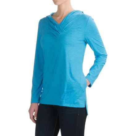 Royal Robbins Essential TENCEL® Sun Cover Shirt - UPF 50+, Hooded, Long Sleeve (For Women) in Abyss Blue - Closeouts