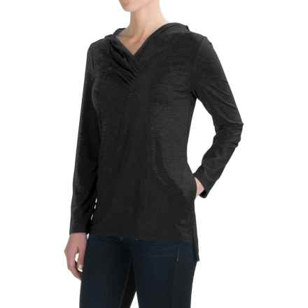 Royal Robbins Essential TENCEL® Sun Cover Shirt - UPF 50+, Hooded, Long Sleeve (For Women) in Jet Black - Closeouts
