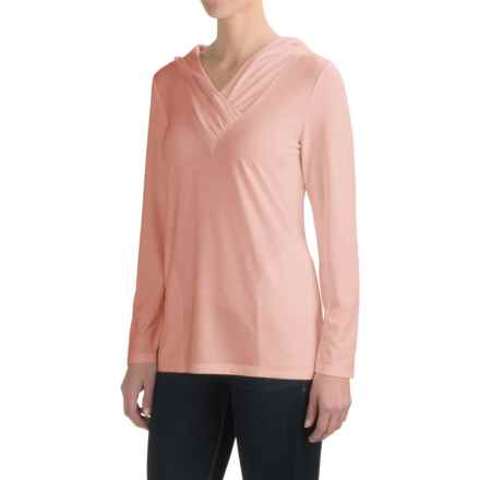 Royal Robbins Essential TENCEL® Sun Cover Shirt - UPF 50+, Hooded, Long Sleeve (For Women) in Light Cantaloupe - Closeouts