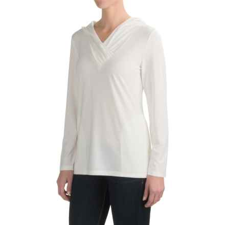 Royal Robbins Essential TENCEL® Sun Cover Shirt - UPF 50+, Hooded, Long Sleeve (For Women) in Quartz - Closeouts