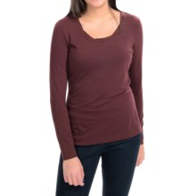 Royal Robbins Essential TENCEL® Twist Neck Shirt - UPF 50+, Long Sleeve (For Women) in Bordeaux - Closeouts