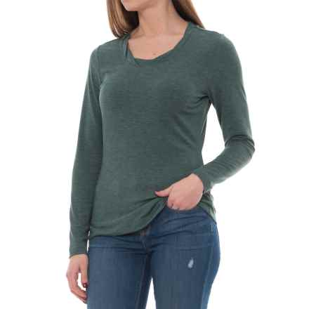 Royal Robbins Essential TENCEL® Twist Neck Shirt - UPF 50+, Long Sleeve (For Women) in Greengables - Closeouts