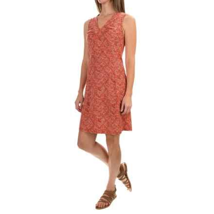 Royal Robbins Essential Tie-Diamond Dress - Sleeveless (For Women) in Pimento - Closeouts