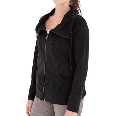 Royal Robbins Essential Traveler Cardigan Sweater - UPF 50+, Stretch Jersey (For Women) in Jet Black