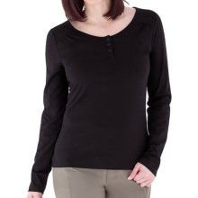 Royal Robbins Essential Traveler Henley Shirt - UPF 50+, Stretch Jersey, Long Sleeve (For Women) in Jet Black - Closeouts