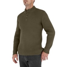 Royal Robbins Everest Button Mock Sweater (For Men) in Tundra - Closeouts