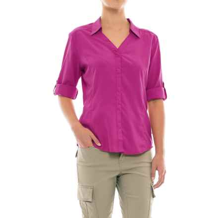 Royal Robbins Expedition Chill Shirt - UPF 50+, Snap Front, 3/4 Sleeve (For Women) in Aster - Closeouts
