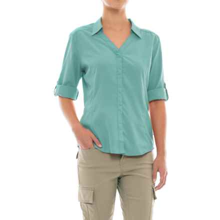 Royal Robbins Expedition Chill Shirt - UPF 50+, Snap Front, 3/4 Sleeve (For Women) in Nile Blue - Closeouts