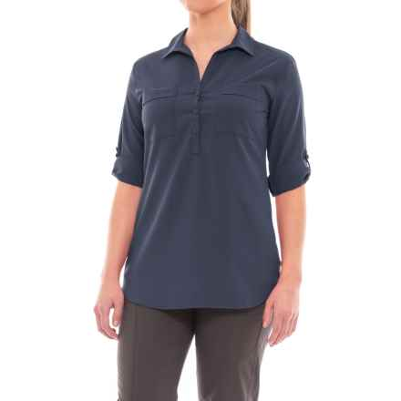 Royal Robbins Expedition Chill Tunic Shirt - UPF 50+, Roll-Up Long Sleeve (For Women) in Navy - Closeouts