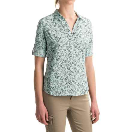 Royal Robbins Expedition Printed Shirt - UPF 50+, Roll-Up 3/4 Sleeve (For Women) in Cove - Closeouts