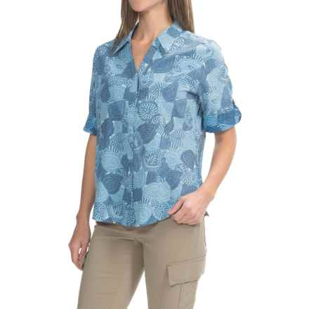 Royal Robbins Expedition Printed Shirt - UPF 50+, Snap Front, 3/4 Sleeve (For Women) in Light Lapis - Closeouts