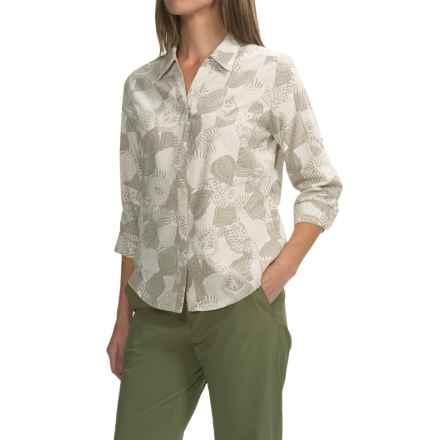 Royal Robbins Expedition Printed Shirt - UPF 50+, Snap Front, 3/4 Sleeve (For Women) in Soapstone - Closeouts