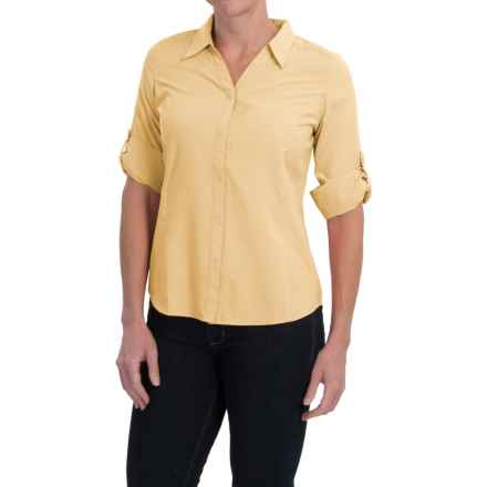 Royal Robbins Expedition Shirt - UPF 40+, 3/4 Sleeve (For Women) in Butter - Closeouts