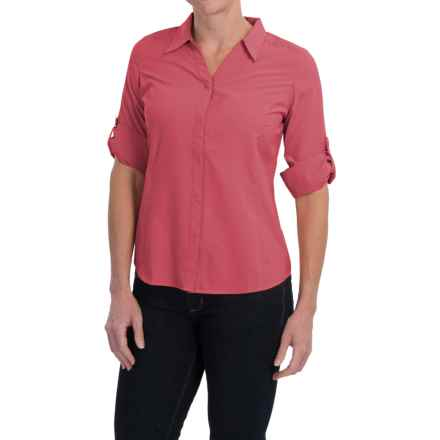 Royal Robbins Expedition Shirt - UPF 40+, 3/4 Sleeve (For Women) in Dixie Rose - Closeouts
