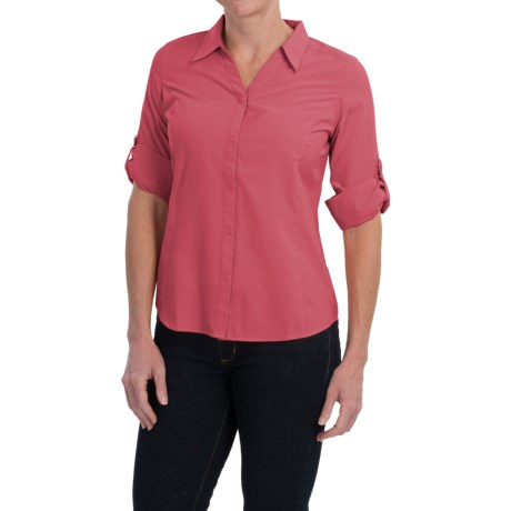 Women 39 s royal robbins noe shirt stretch micromodal for Royal robbins expedition shirt 3 4 sleeve women s
