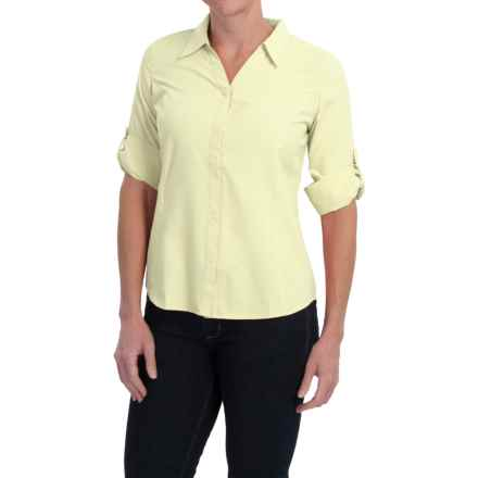 Royal Robbins Expedition Shirt - UPF 40+, 3/4 Sleeve (For Women) in Lemongrass - Closeouts
