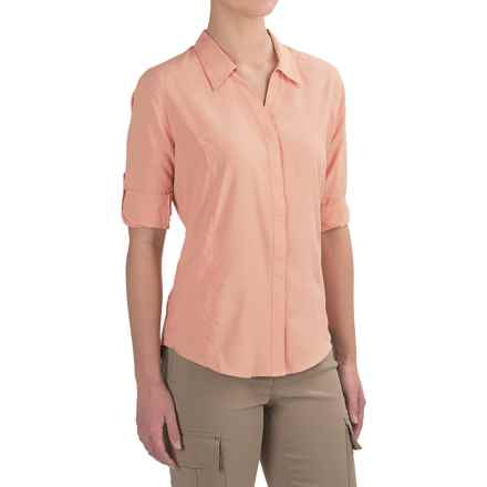 Royal Robbins Expedition Shirt - UPF 40+, 3/4 Sleeve (For Women) in Light Cantaloup - Closeouts