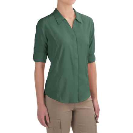Royal Robbins Expedition Shirt - UPF 40+, 3/4 Sleeve (For Women) in Silverpine - Closeouts