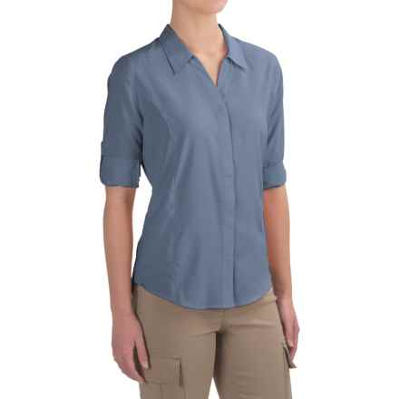 Royal Robbins Expedition Shirt - UPF 40+, 3/4 Sleeve (For Women) in Sky Blue - Closeouts