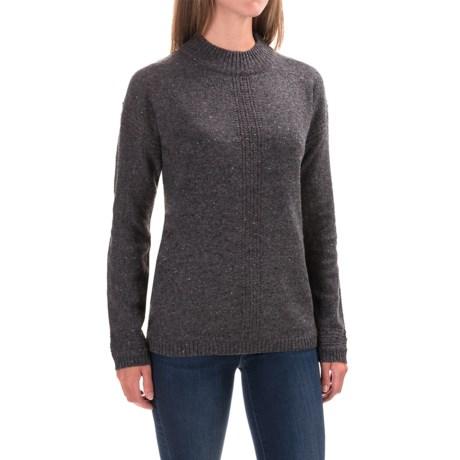 Royal Robbins First Fleet Mock Neck Sweater - Merino Wool (For Women) in Charcoal