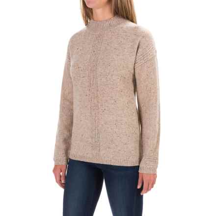 Royal Robbins First Fleet Mock Neck Sweater - Merino Wool (For Women) in Oatmeal - Closeouts