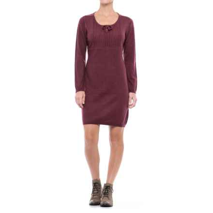 Royal Robbins First Light Knit Sweater Dress - Long Sleeve (For Women) in Beet - Closeouts