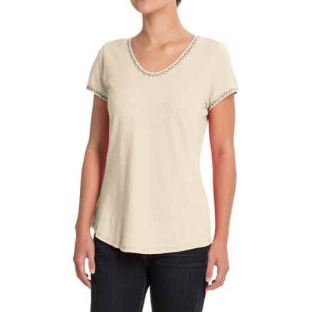 Royal Robbins Flynn Boat Neck T-Shirt - Hemp-Organic Cotton, Short Sleeve (For Women) in Creme - Closeouts